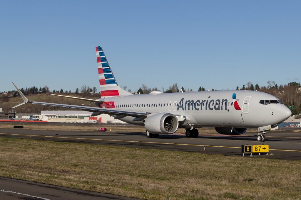 American Airlines Boeing 737 Max 8 N308RD Test Flight
