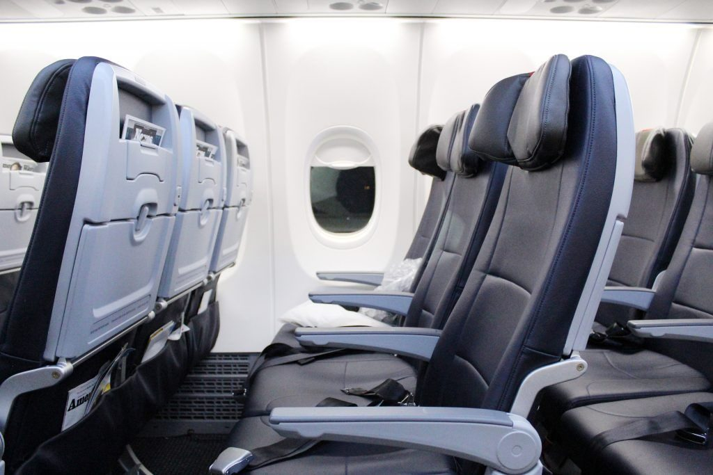 American Airlines Boeing 737 Max 8 New Coach Seats Photos