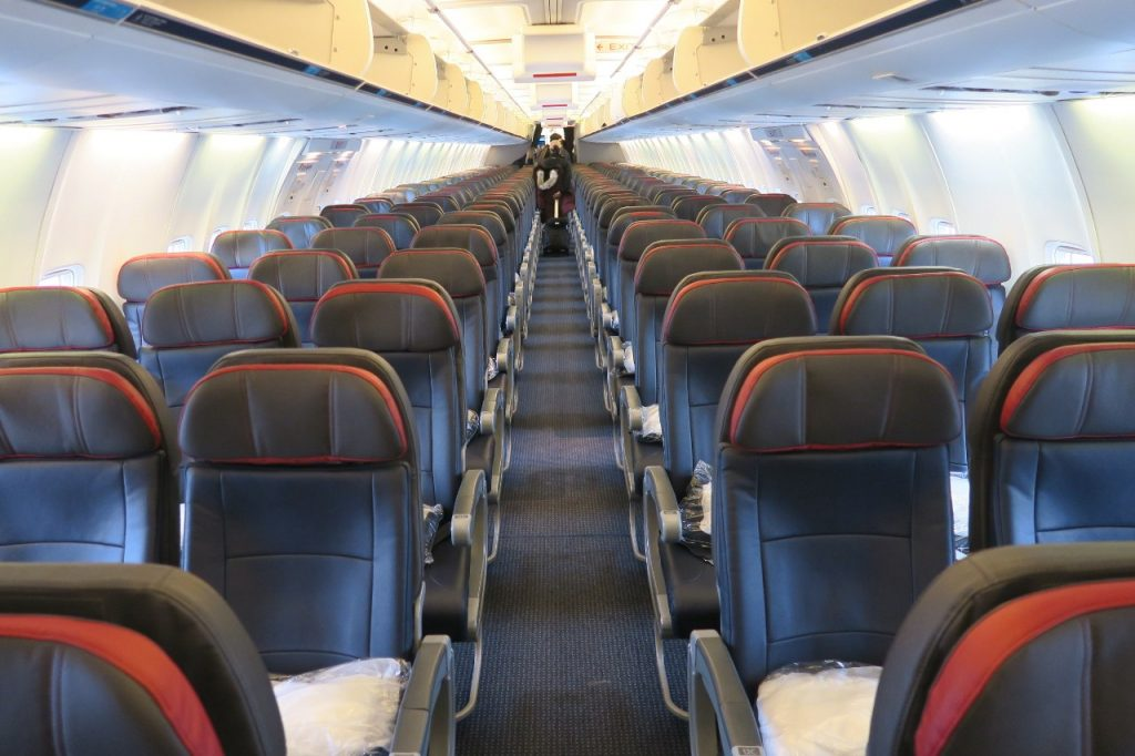 American Airlines Boeing 757-200 Main Cabin Extra Seats Photos