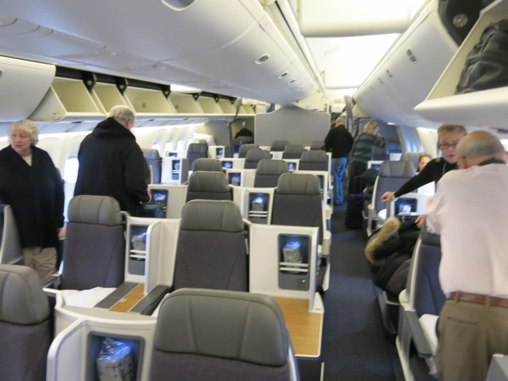 American Airlines Boeing 767-300 Business Class Cabin Photos
