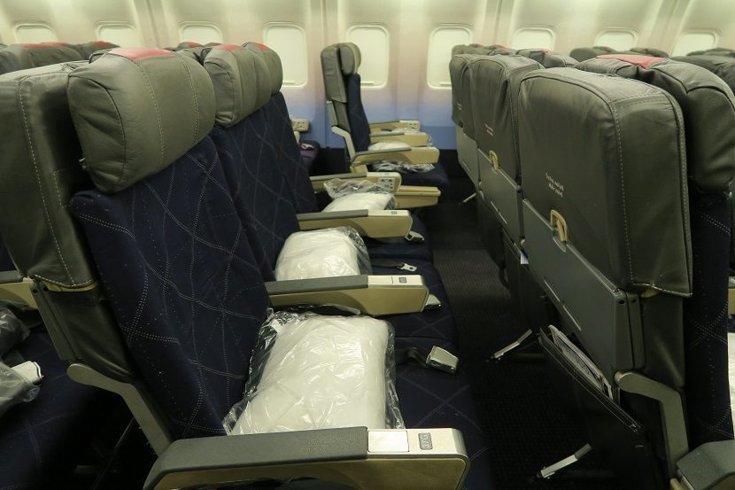 American Airlines Boeing 767-300 Economy Class Seats typical 31 inches of legroom