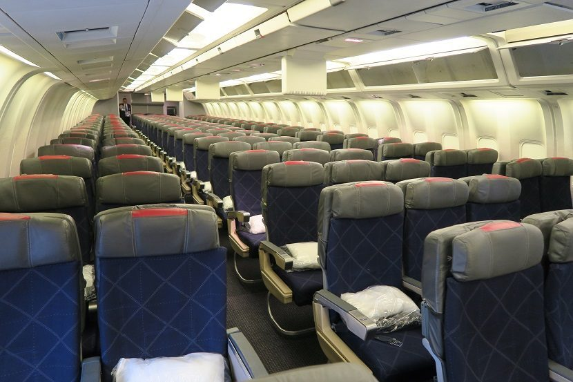 American Airlines Boeing 767-300 Main Economy Cabin 2-3-2 arrangement