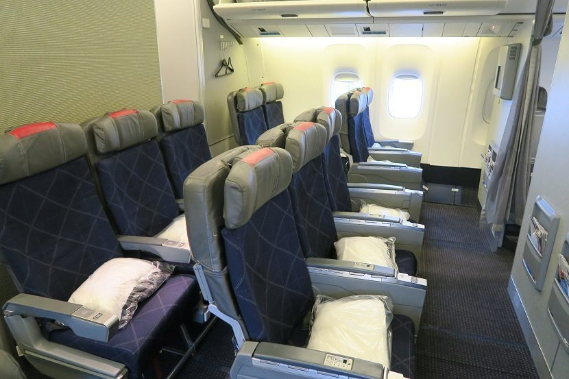 American Airlines Boeing 767-300 Rows 12 and 13 make up a mini-cabin of Main Cabin Extra seating
