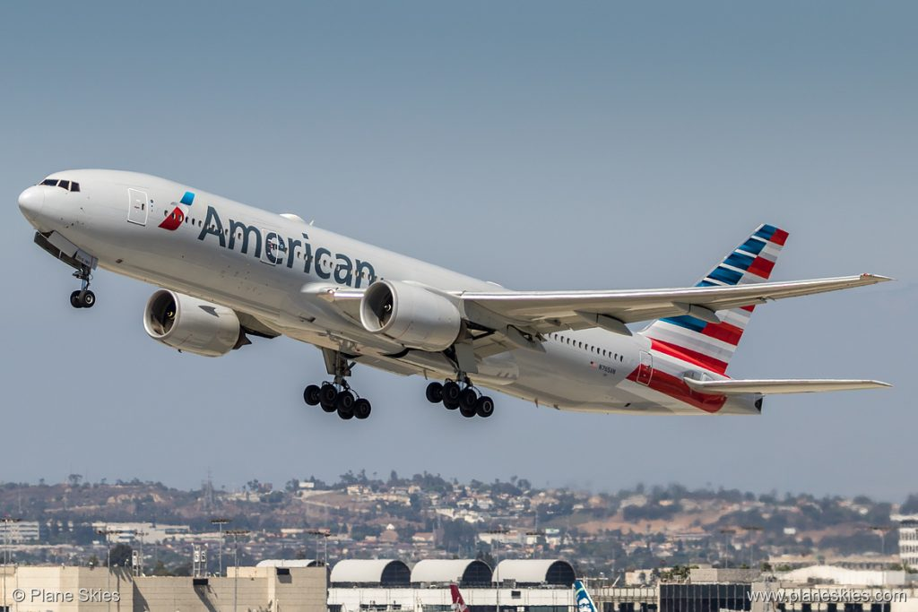 American Airlines Boeing 777-200ER N765AN at Los Angeles International Airport (KLAX:LAX) @planeskies.com