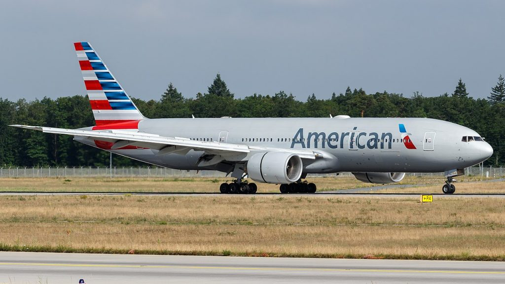 American Airlines Boeing 777-200ER (N778AN) at Frankfurt Airport