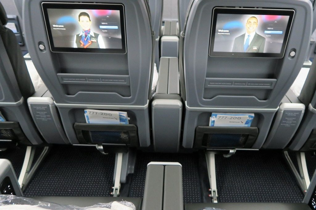 American Airlines Boeing 777-200ER Premium Economy Back Side Photos