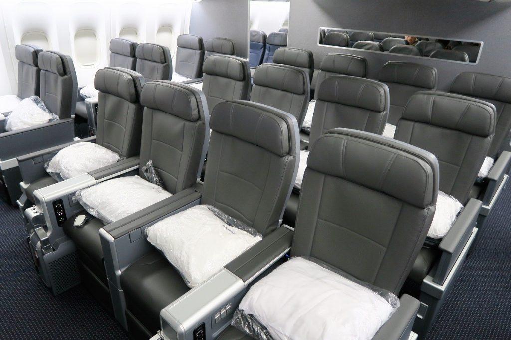 American Airlines Boeing 777-200ER Premium Economy Cabin Photos