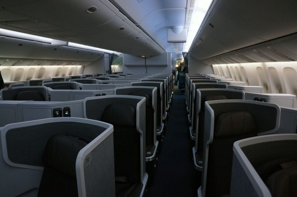 American Airlines Boeing 777-300ER Business Class Cabin Interior Photos