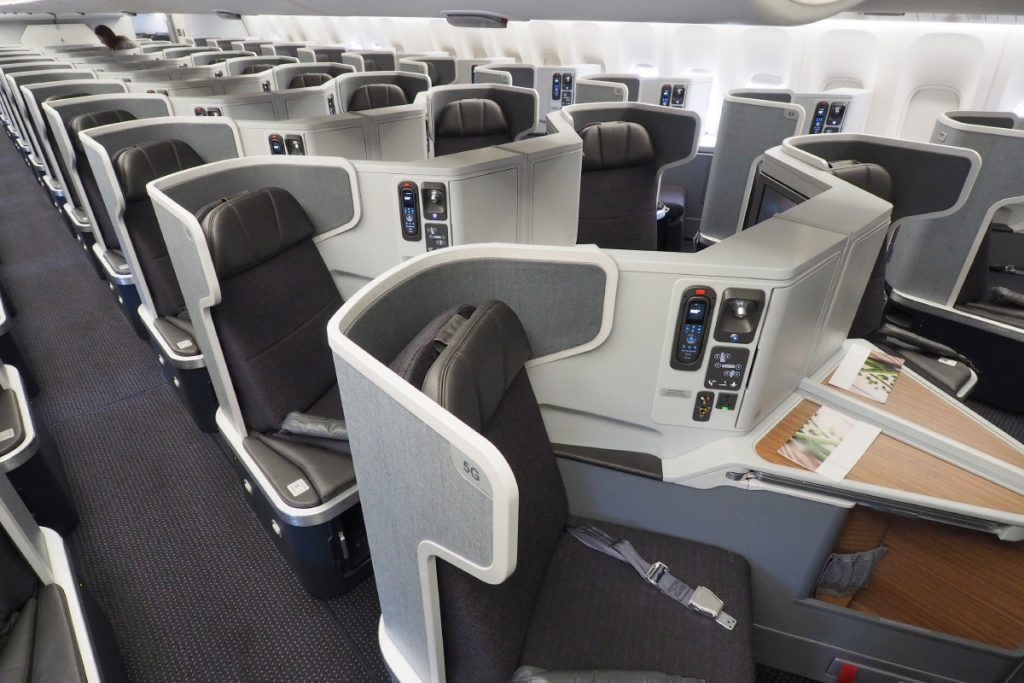American Airlines Boeing 777-300ER Business Class Cabin Photos