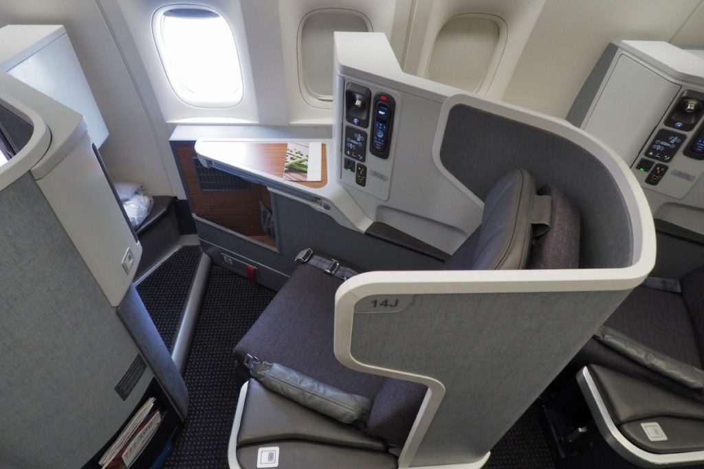 American Airlines Boeing 777-300ER Business Class Seats JFK-London