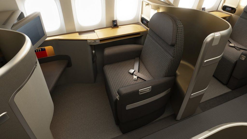 American Airlines Boeing 777-300ER First Class Cabin London to New York