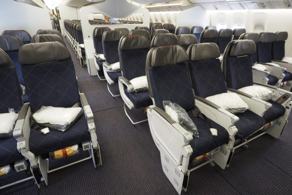 American Airlines Boeing 777-300ER Main Cabin Extra Seats Photos