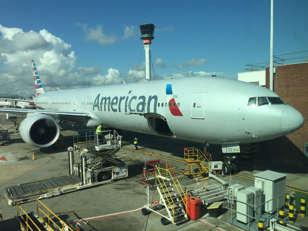 American Airlines Boeing 777-300ER service between Dallas and London