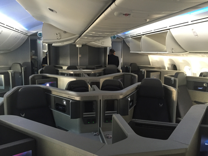 American Airlines Boeing 787-8 Dreamliner Business Class Backward-facing seats