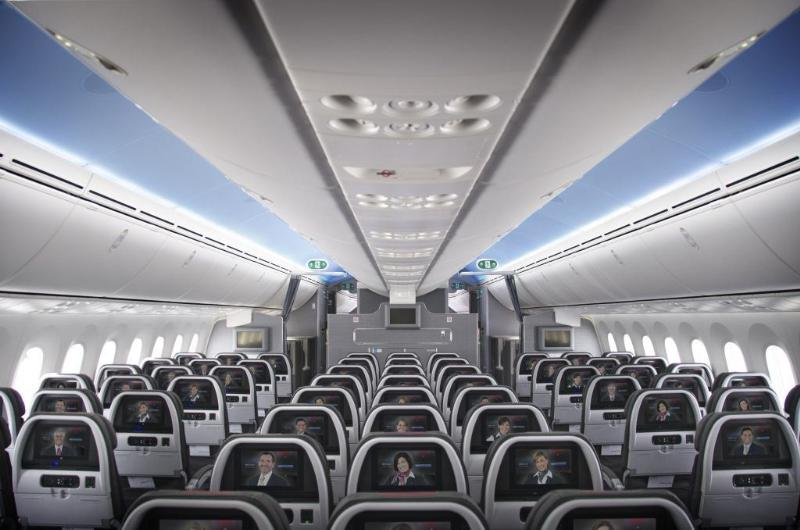 American Airlines Boeing 787-8 Dreamliner Economy Class Seats Row