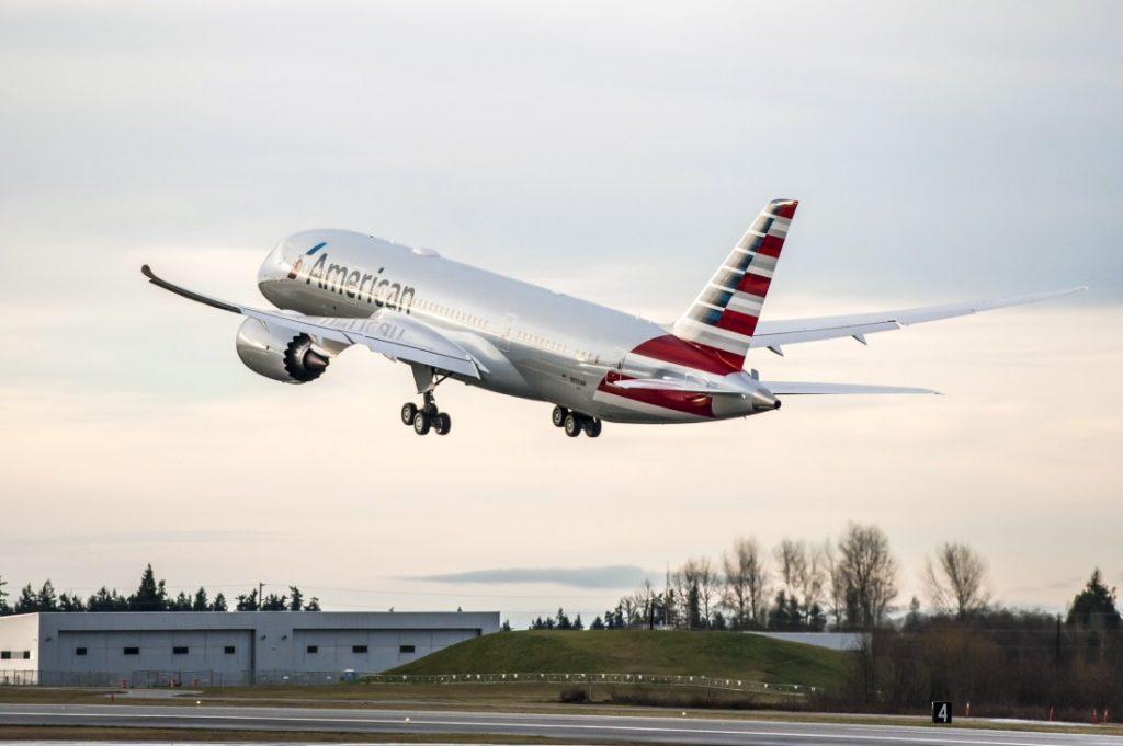 American Airlines Boeing 787-8 Dreamliner Los Angeles to Tokyo
