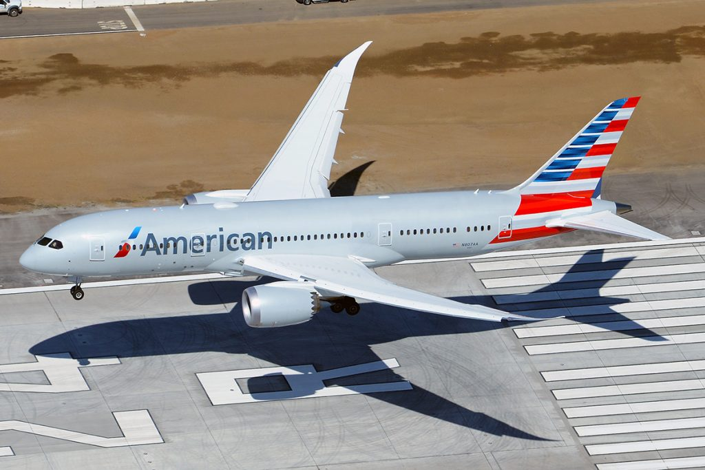 American Airlines Boeing 787-8 Dreamliner N807AA landing at LAX