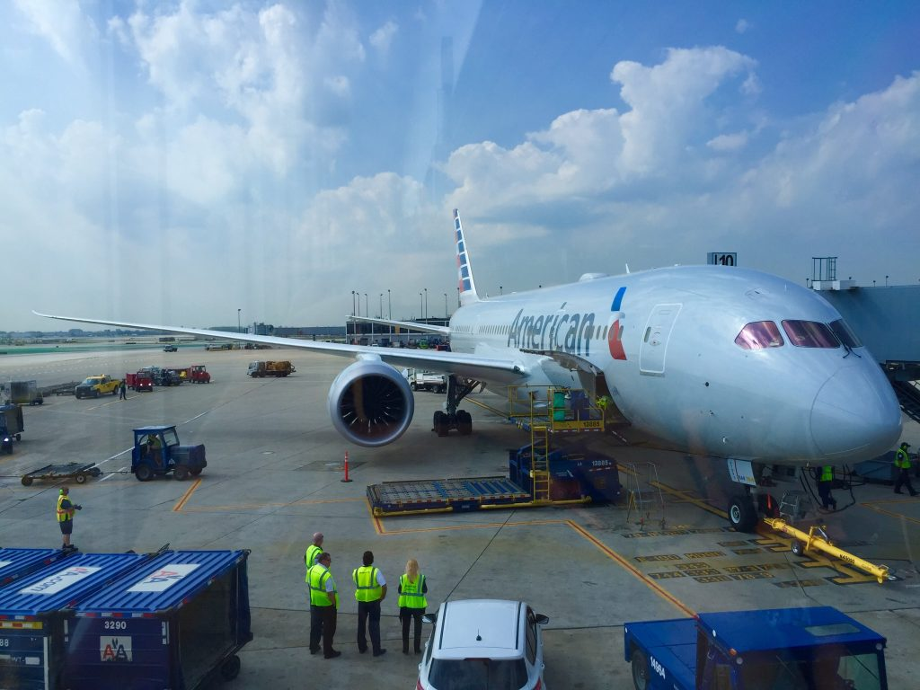 American Airlines Boeing 787-8 Dreamliner inaugural flight Photos