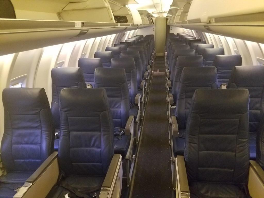 American Airlines Bombardier CRJ-200 Main cabin Seats Row Photos