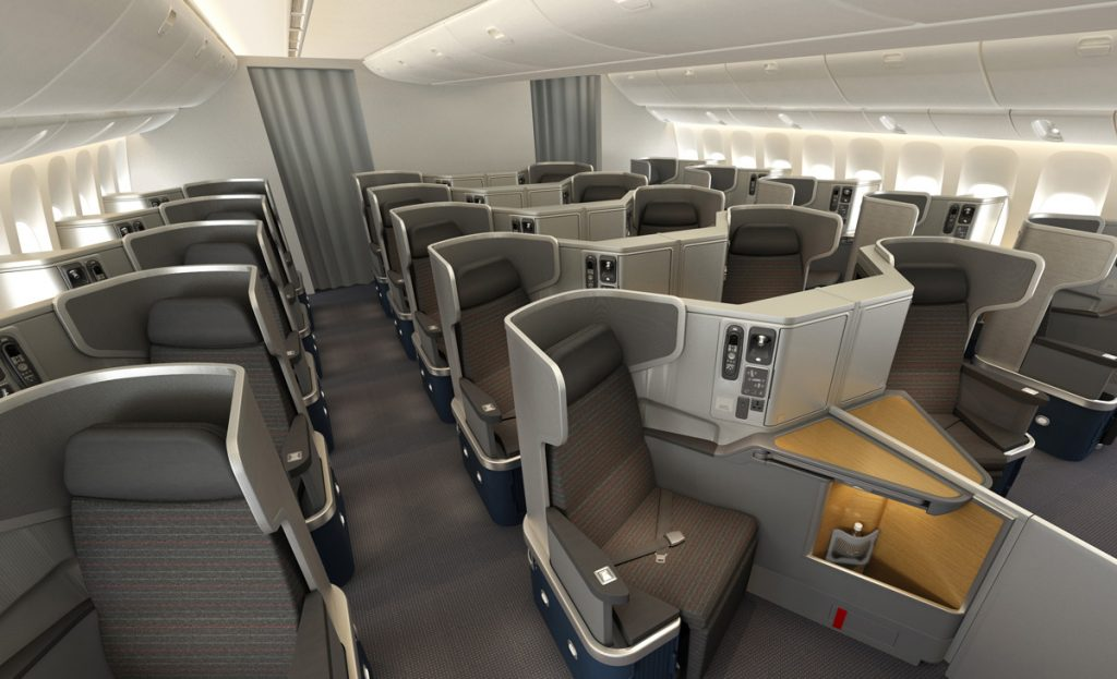 American Airlines Business Class Seats Boeing 777-300ER Photos