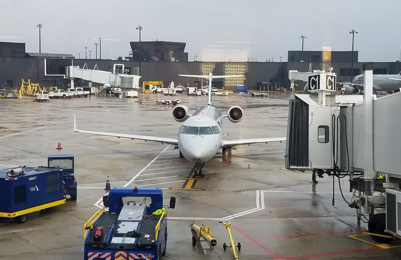 American Airlines (Eagle) Bombardier CRJ-200 at Boarding Gate