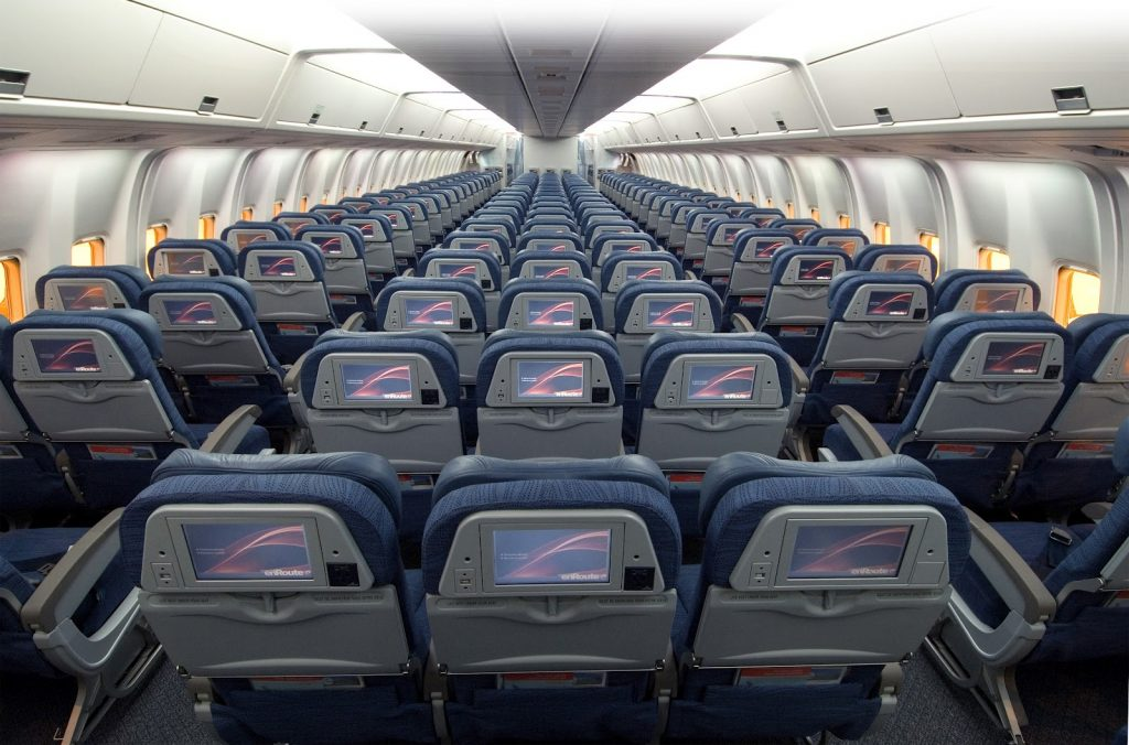 American Airlines Economy Class Seat in Boeing 767-300 Aircraft