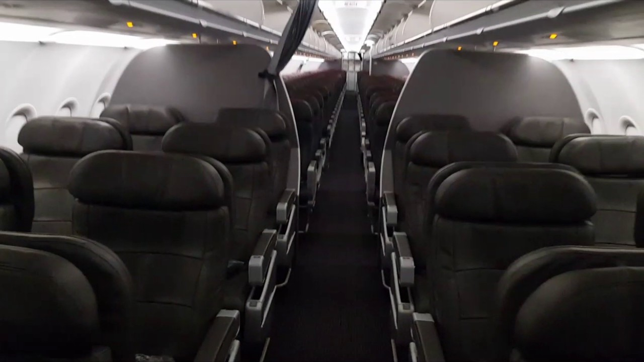 American Airlines Interior Cabin Tour Airbus A321-200S 32B
