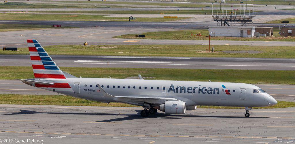 American Airlines N946UW Embraer Empresa Brasileira DE ERJ-190AR (ERJ-190-100 IGW) @Gene Delaney