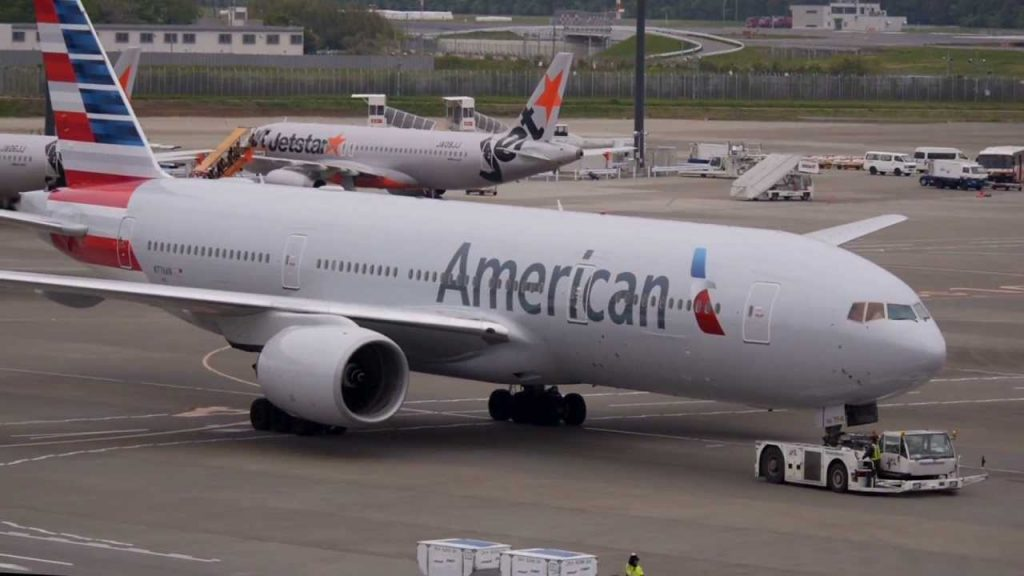 American Airlines New Livery Boeing 777-200ER N776AN 【NRT:RJAA】