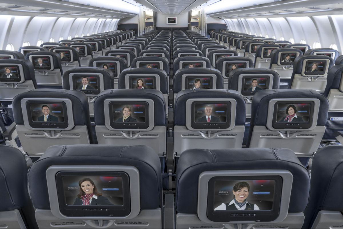 American Airlines Wide Body Airbus A330-300 Main Cabin Seats Configuration Photos