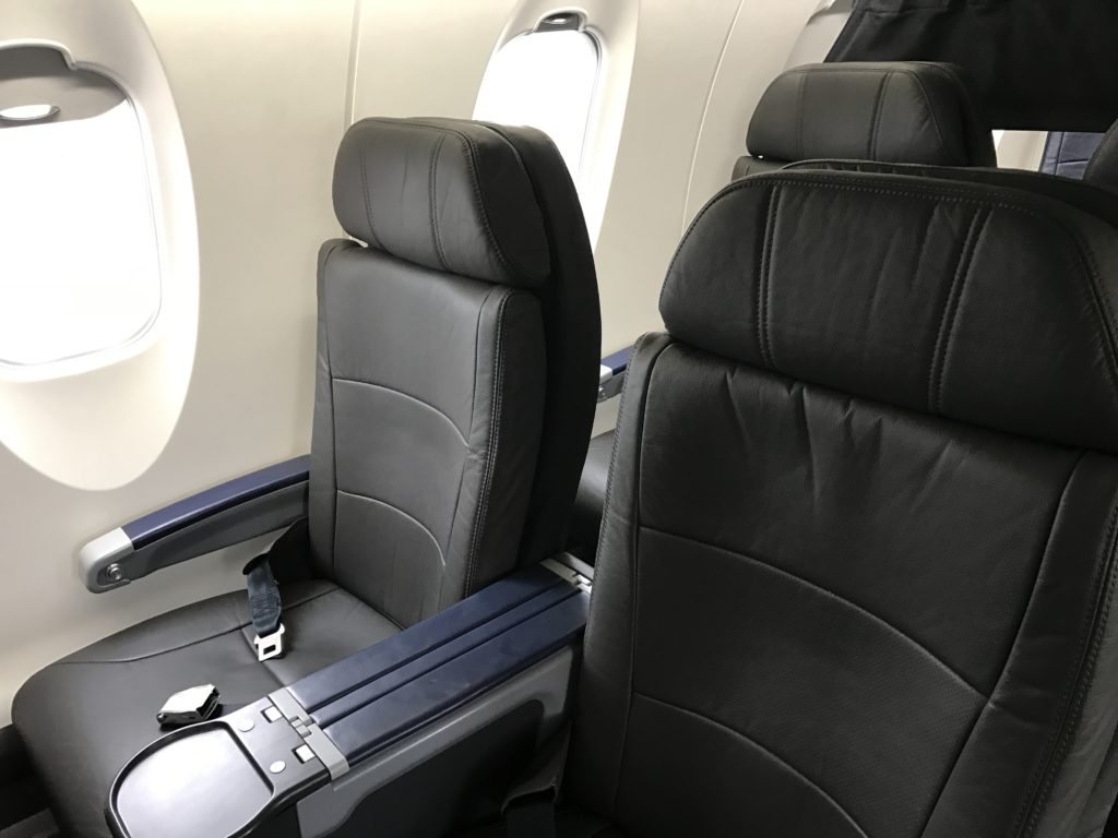 American Eagle Airlines Dallas to Santa Barbara CRJ-900 First Class Double Seats