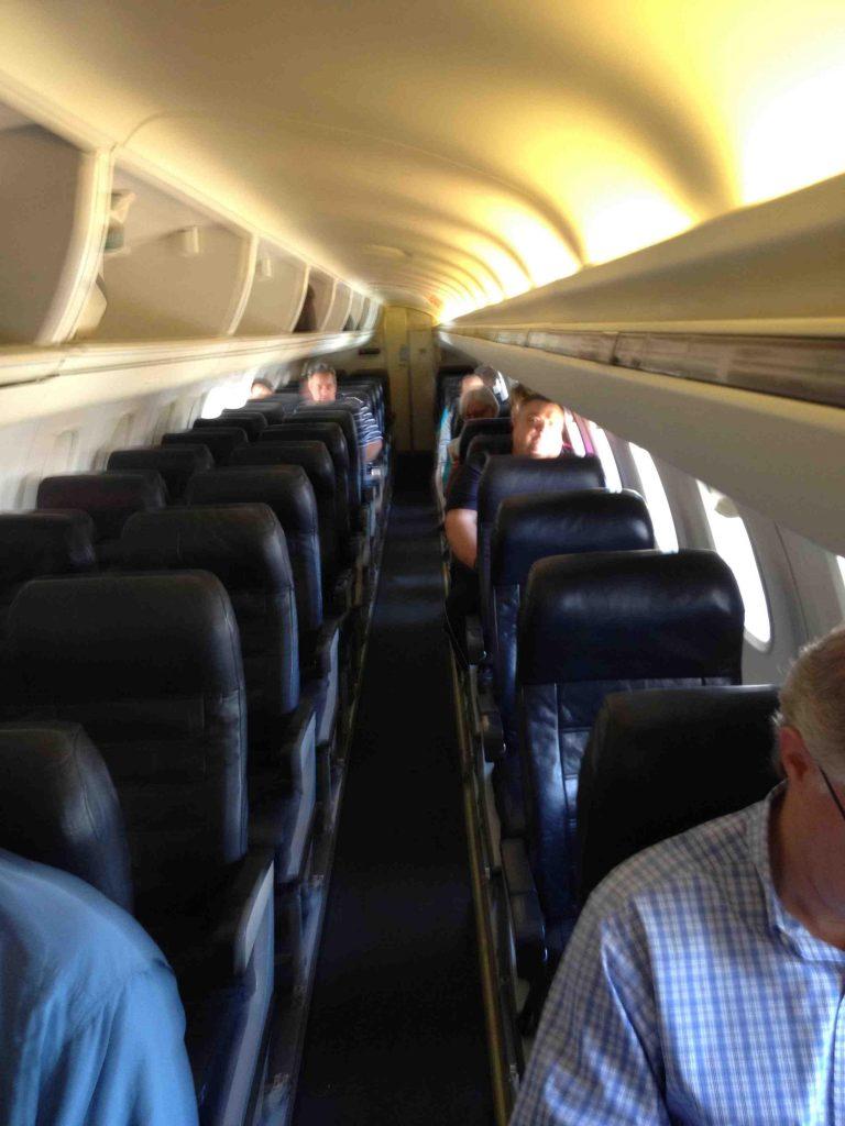 American Eagle Airlines ERJ-145 Main Cabin Head Bins Photos