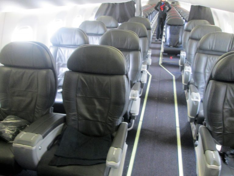 American Eagle Airlines Embraer E175 First Class Cabin Interior Photos