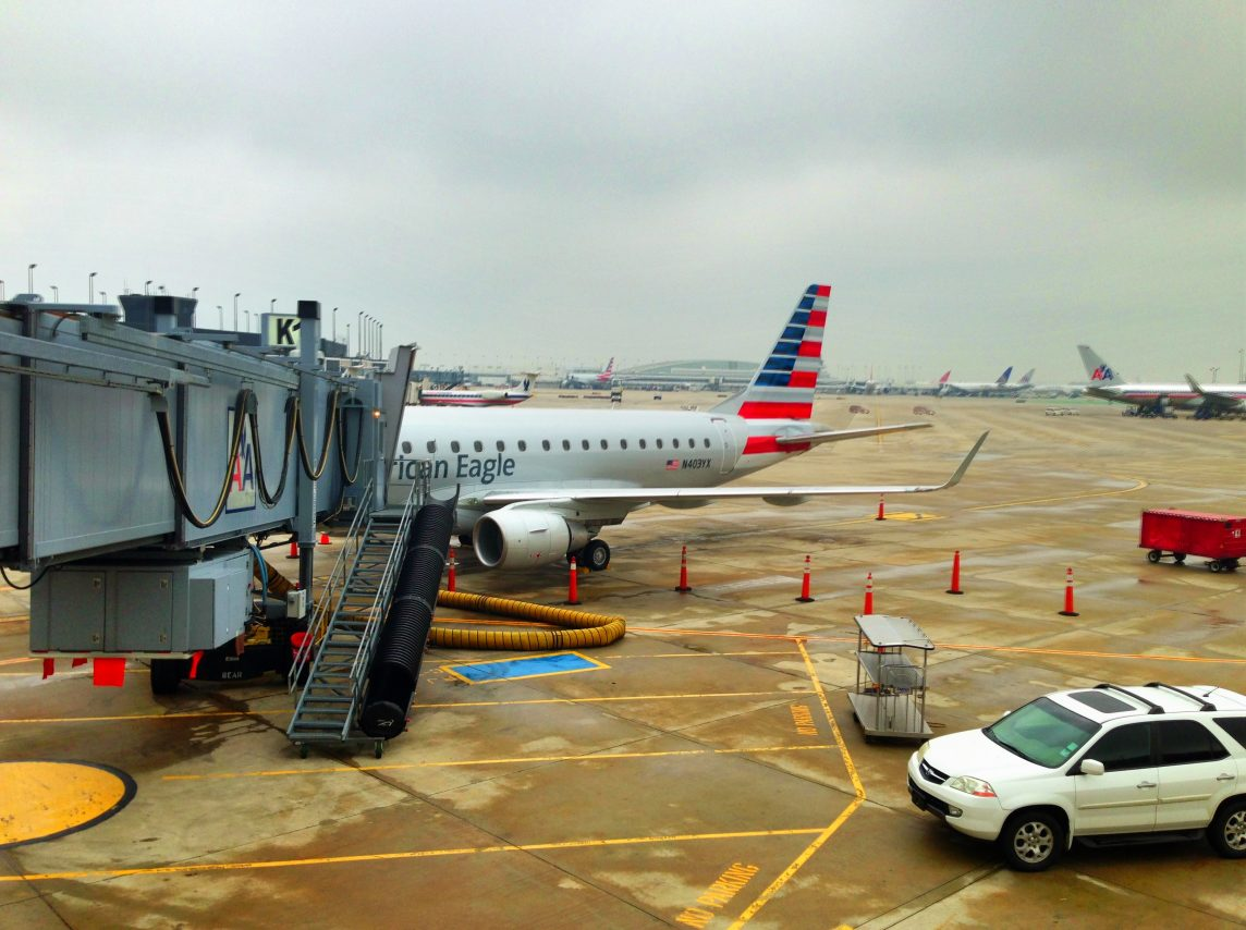 American Eagle Airlines Embraer E175 N403YX parked at Gate K1 at ORD