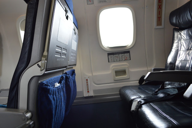 American Eagle Airlines Embraer ERJ-140 exit row seats leg room is quite good