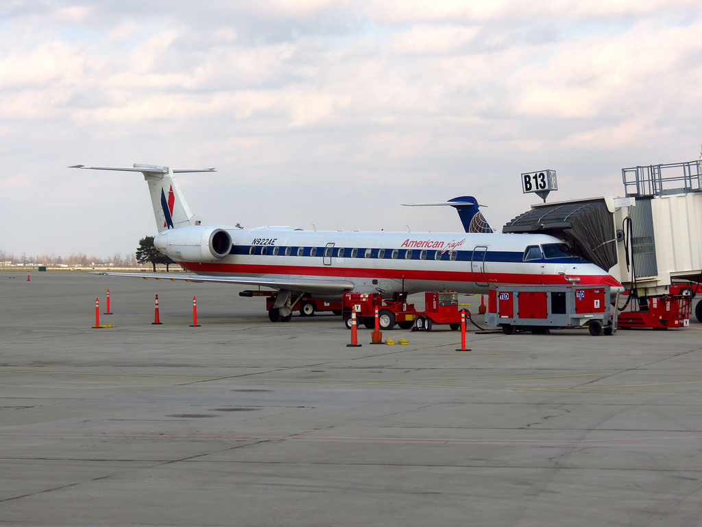 American Eagle Airlines Embraer ERJ-145 N922AE at Toronto - Lavatory Smoke Indication