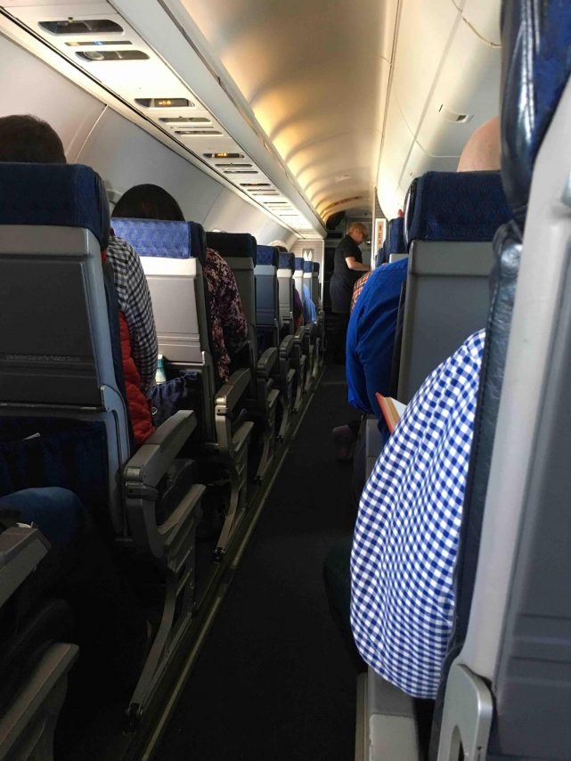 American Eagle Airlines Embraer ERJ-145 Regional Jet Cabin Seats Row Photos
