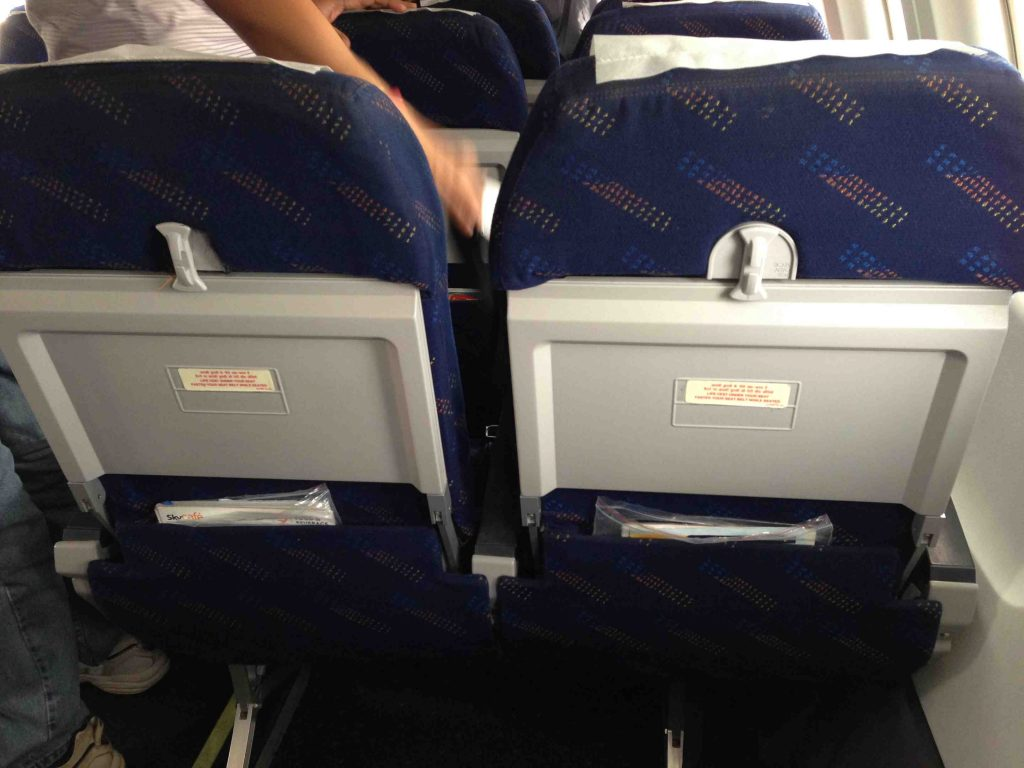 American Eagle Airlines Embraer ERJ-145 Standard Economy Seats Back View