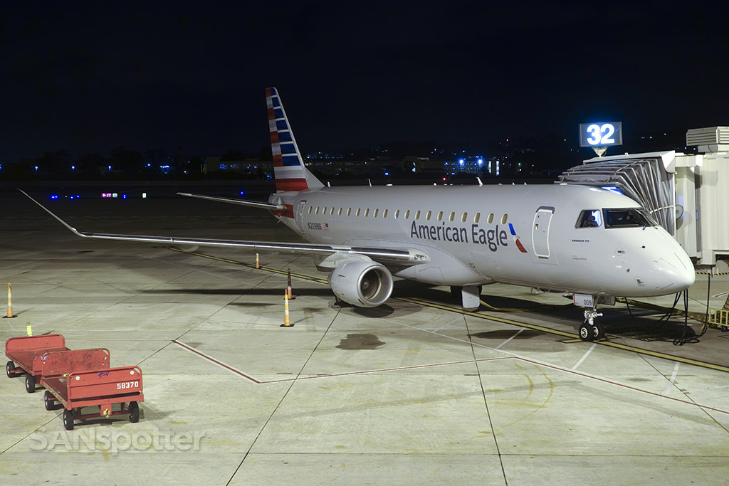 American Eagle Airlines Embraer ERJ-175 (N209NN) to LAX waiting at gate 32 @SANspotter