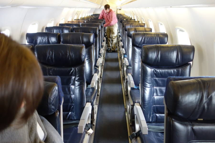 American Eagle Airlines Regional Jet Embraer ERJ-140 Main Cabin 2-1 Standard Seats Configuration