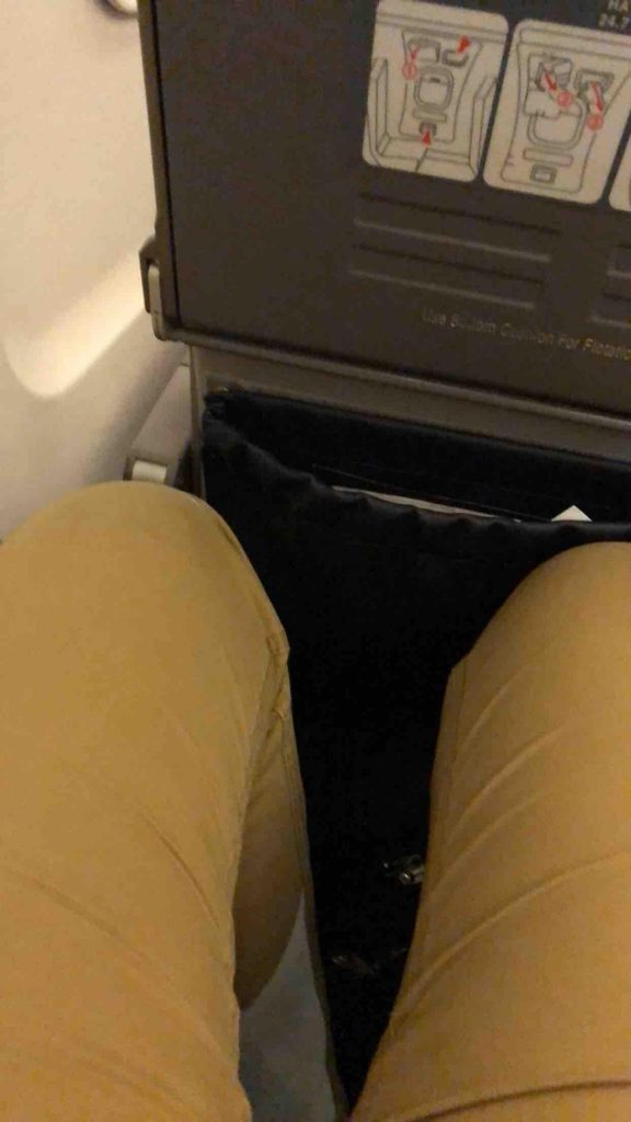 American Eagle Arlines Embraer ERJ-145 Standard Economy Seats Leg Room Photos