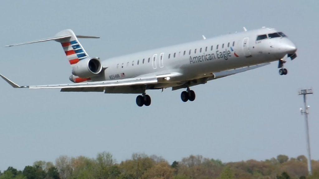 American Eagle CRJ-900 [PSA Airlines] [N554NN] Landing Charlotte CLT