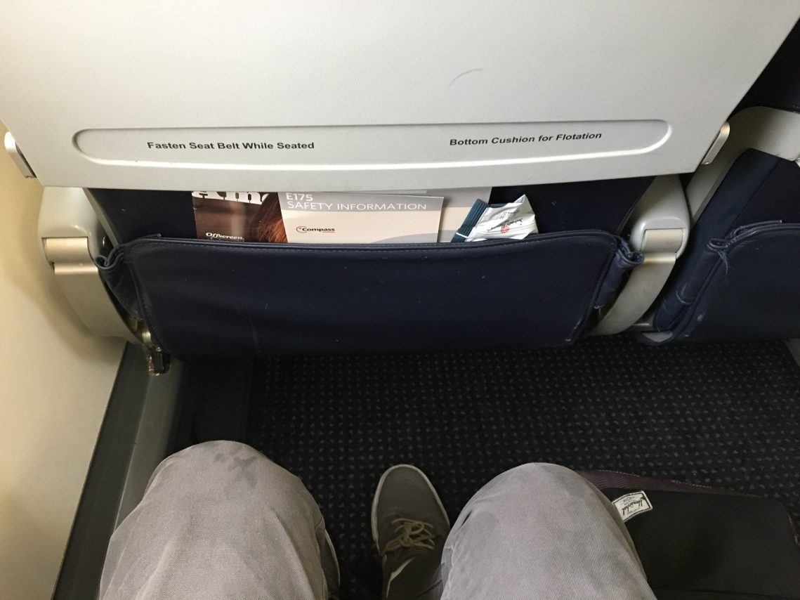American Eagle (Compass Airlines) Embraer E175 Main Cabin Extra Seats Legroom Photos