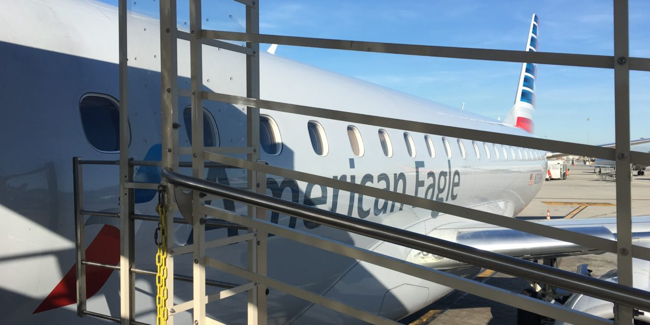 American Eagle (Compass Airlines) Embraer E175 Portland (PDX) to Los Angeles (LAX)