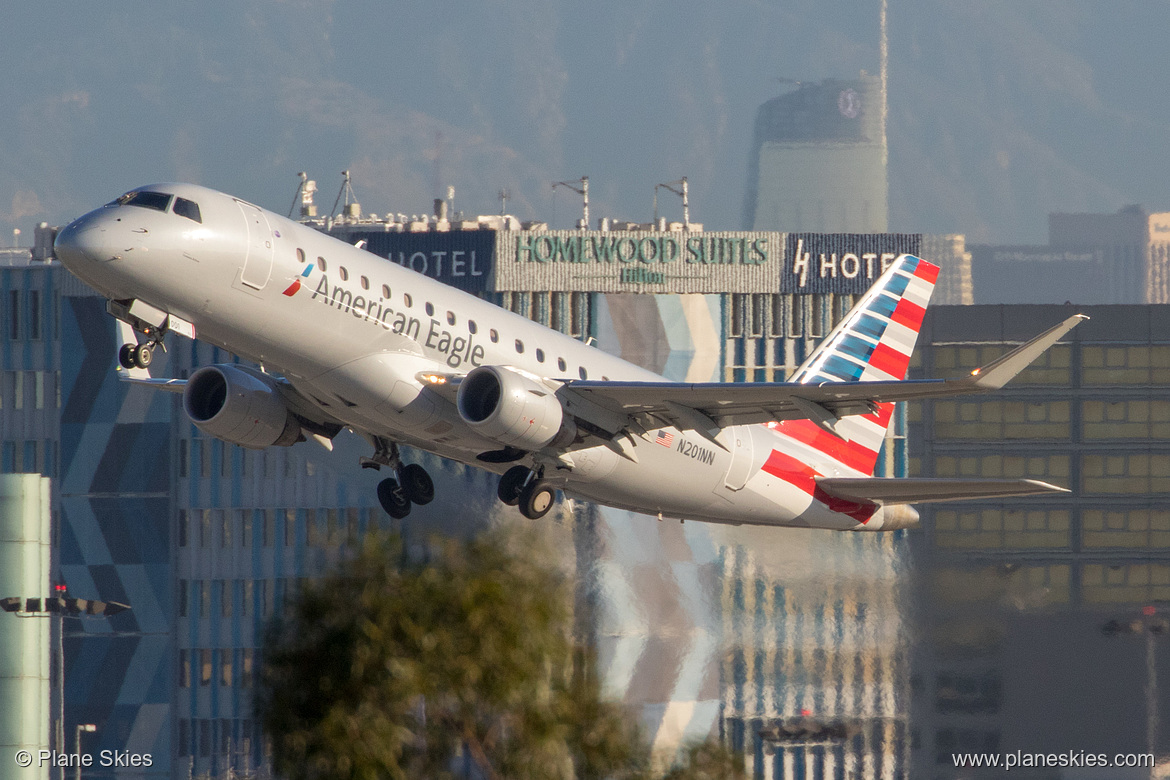 American Eagle (Compass Airlines) Embraer ERJ-175 N201NN at Los Angeles International Airport (KLAX:LAX) @Plane Skies
