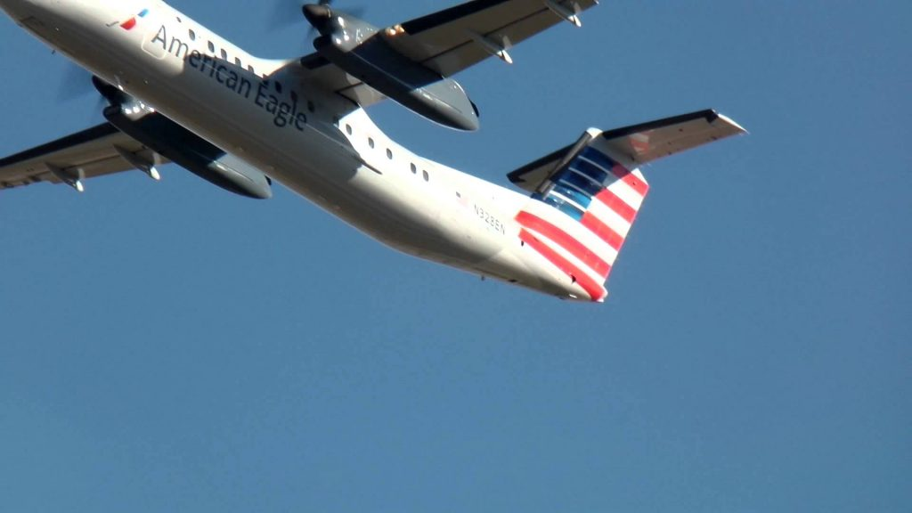 American Eagle Dash 8-311A [Piedmont Airlines] [N328EN] Takeoff Charlotte CLT