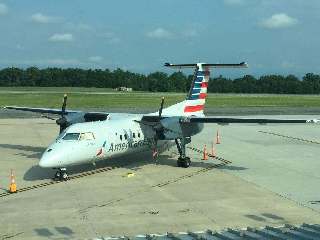 American Eagle Piedmont Airlines Dash 8-100 in Charlottesville, VA