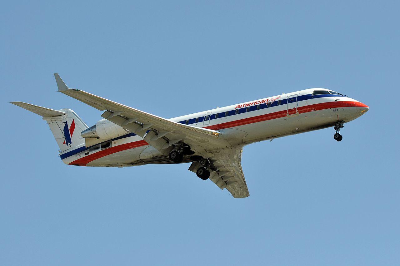 American Eagle SkyWest Airlines, Canadair Bombardier CRJ-200, N862AS - Landing LAX