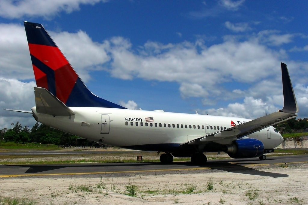 Boeing 737-732 Registration N304DQ Delta Air Lines Narrow Body Fleet at Tegucigalpa Toncontin Int'l - MHTG, Honduras