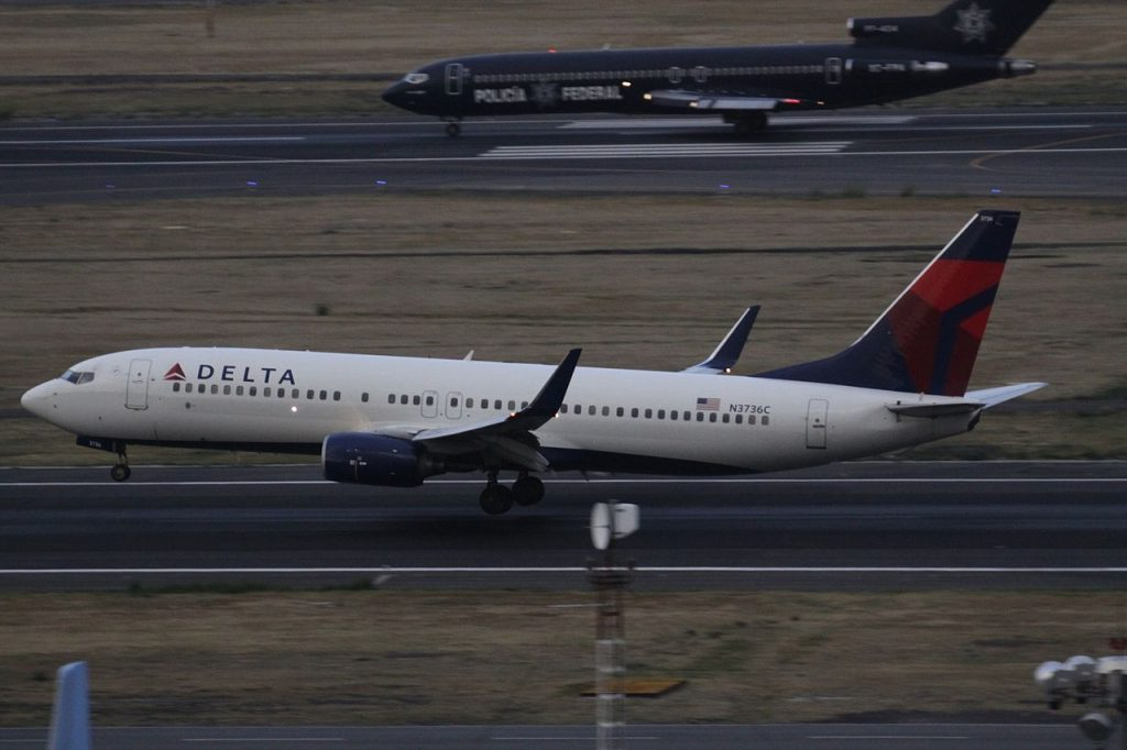 Boeing 737-800 N3736C of Delta Air Lines at Mexico City International Airport